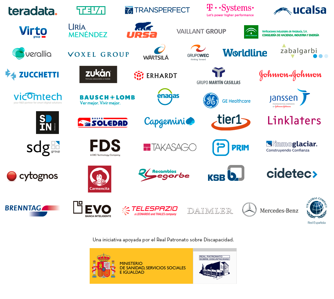 Empresas y entidades comprometidas con el filtro del empleo