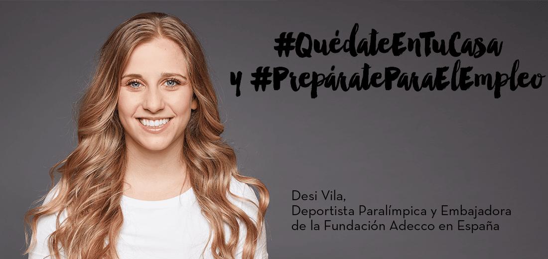 Desirée Vila, Embajadora de la Fundación Adecco y Deportista Paralímpica