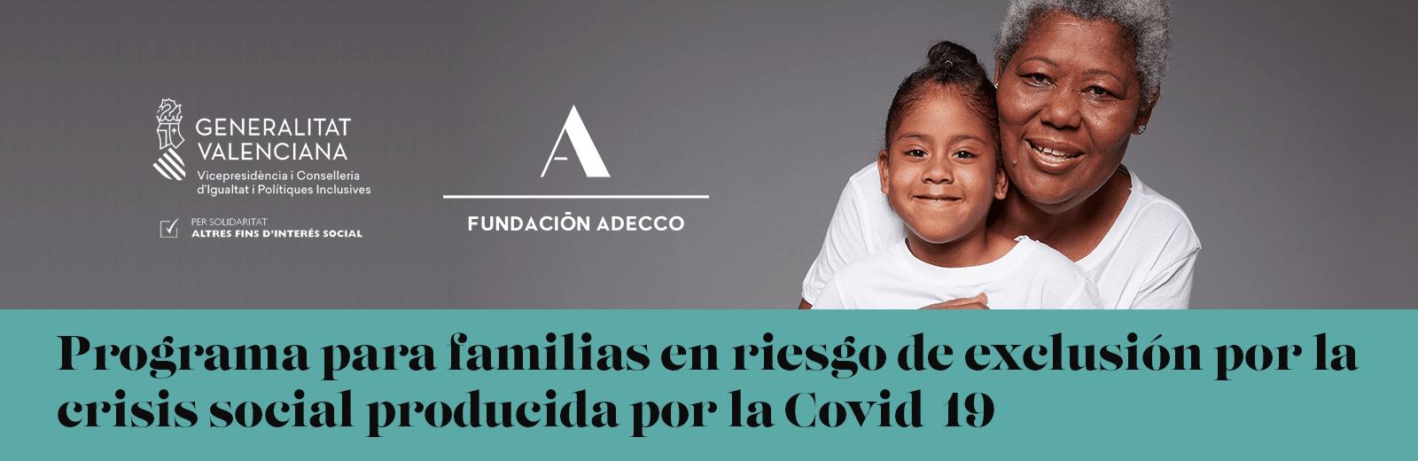 Programa de empleo para familias en riesgo de exclusión como consecuencia de la Covid-19.