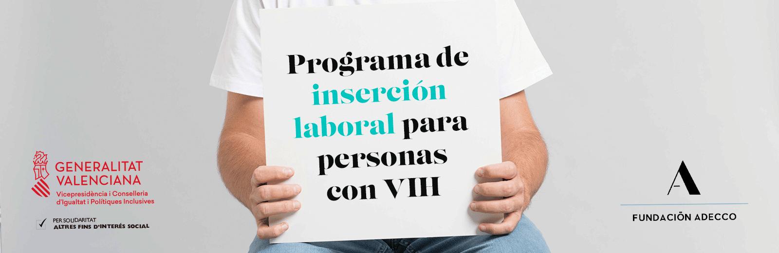 Programa de inserción laboral para personas con VIH