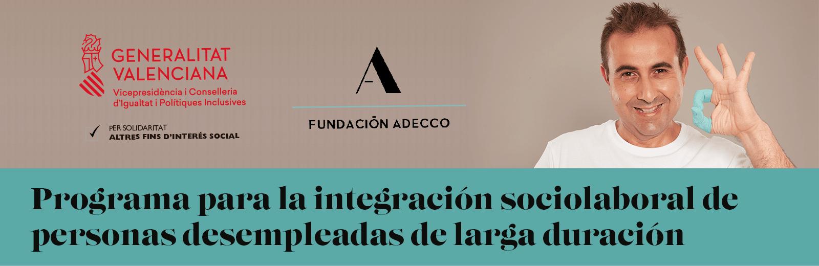 Programa inclusión sociolaboral personas desempleadas de larga duración