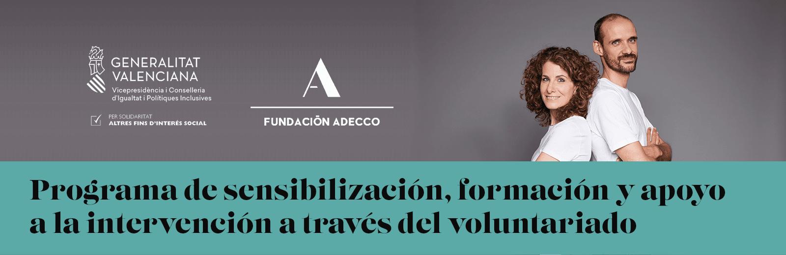 Programa de sensibilización, formación y apoyo a la intervención a través del voluntariado