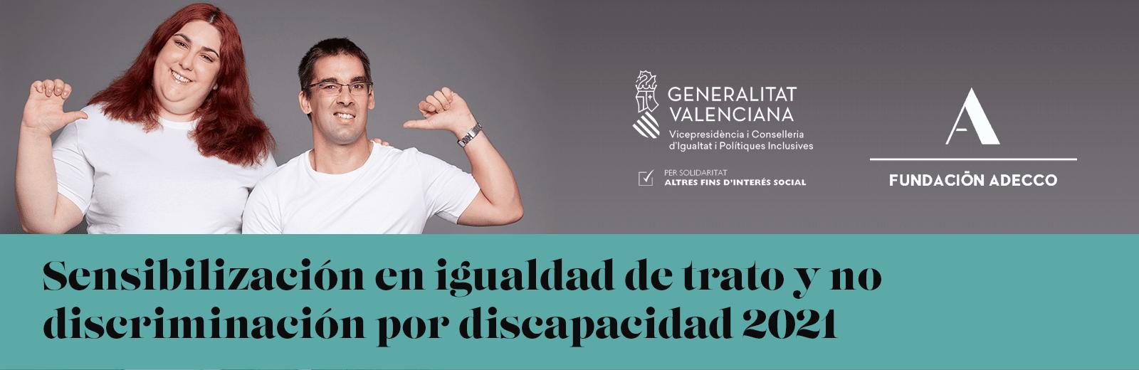 Sensibilización en igualdad de trato y no discriminación por discapacidad 2021