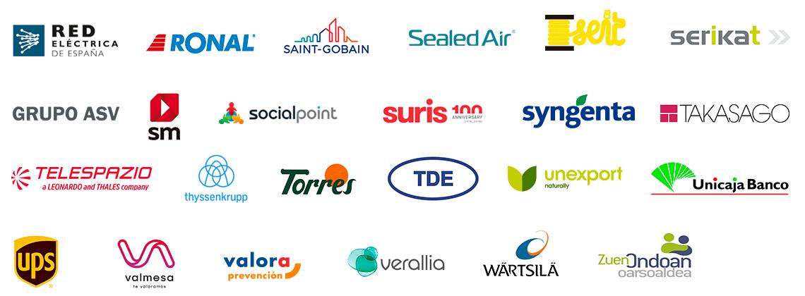 Más logotipos de empresas compretidas
